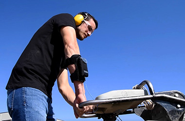 Hand arm human vibration measurements